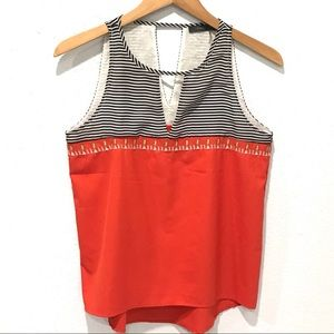 THML Embroidered Striped Tank Top Sleeveless